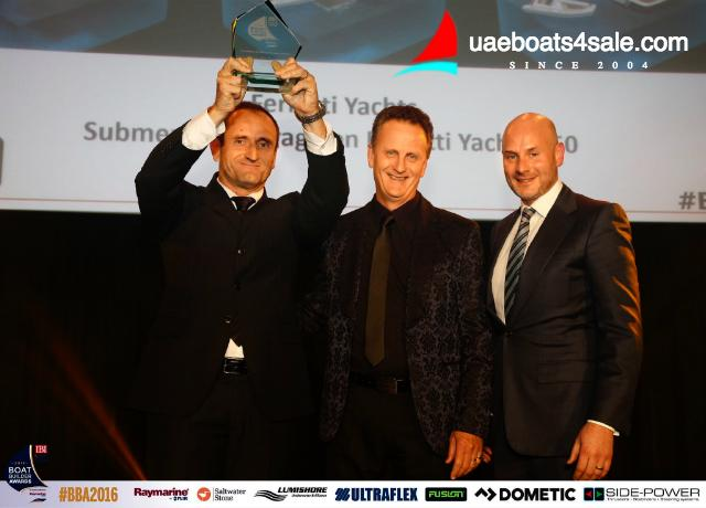 """Ferretti Group wins at the """"Boat Builder Awards for business achievement"""" 2016"""
